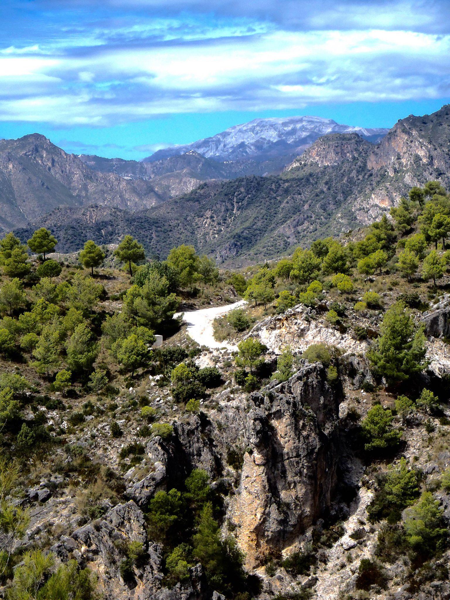 Stunning views after 300 metre ascend.