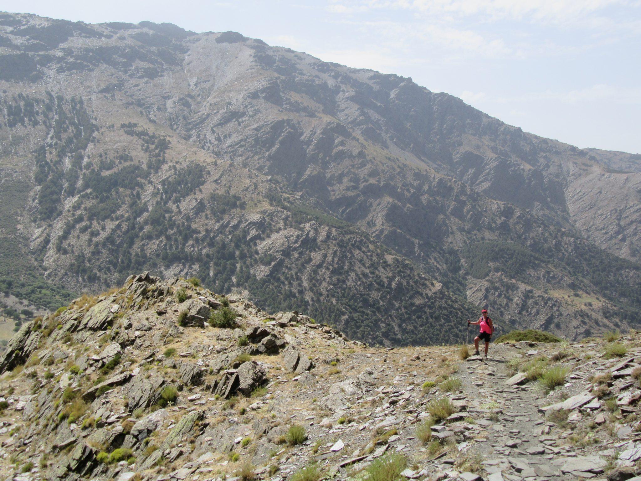 High mountain walking.